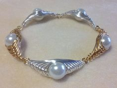 Free Herringbone Wire Wrapped Pearl Tutorial by Ruby Lockwood featured in Sova-Enterprises.com Newsletter!