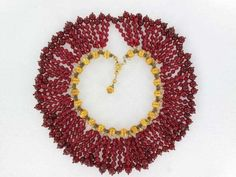 Outrageous William DeLillo Red Glass Collar Necklace | eBay