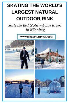 Skating the world's longest natural ice rink in Winnipeg #skating #Winnipeg #winterfun