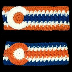 Show off your love for the Denver Broncos and Colorado with this cozy headband ear warmer for sale at www.etsy.com/shop/RockyMountainHatCo