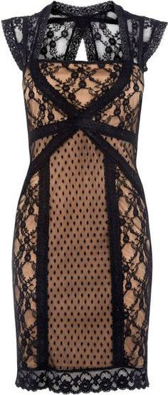 Oasis Spot and Lace Sexy Dress