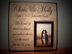 Custom Wedding Picture Frame, Personalized, We'll end up HAND IN HAND, Beach Wedding, Destination Wedding