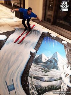 3D chalk art                                                                                                                                                      More