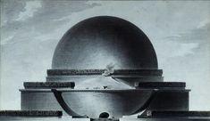 Étienne Louis Boullé-Cenotafio a Newton (1784)
