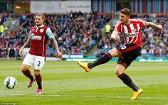 Sunderland striker Connor Wickham pulls the trigger at Turf Moor but neither side managed ...