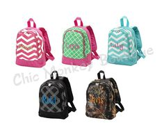 Kids Preschool Size Backpacks in 5 Different Prints by Chic Monkey Boutique, $32.95