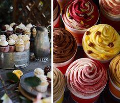 Cupcakes deliciosos y coloridos :)