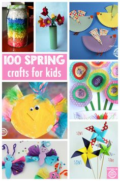 100 GORGEOUS SPRING CRAFTS - Kids Activities