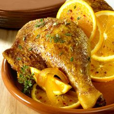 Canard à l'orange au Cookeo Jus D'orange, Turkey, Meat, Chicken, Food, Sauteed Potatoes, White Rice, Kitchens, Recipes