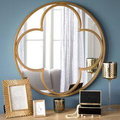 Spiegel, rund, aus Metall D 60 cm ...