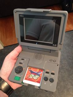 PC Engine LT - a Japanese Turbo Grafx-16 with built in LCD screen.