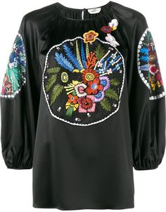 Fendi floral embroidered blouse