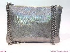 Clutch Plata de Lunetta, clásico y elegante para lucir en tus eventos | lunettaonline.com