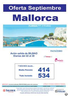 MALLORCA , Oferta Hotel Florida, salidas diarias del 22 al 30 Septiembre desde Bilbao ultimo minuto - http://zocotours.com/mallorca-oferta-hotel-florida-salidas-diarias-del-22-al-30-septiembre-desde-bilbao-ultimo-minuto/