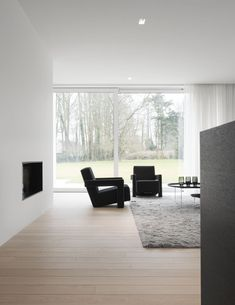 Big windows wall accompanying minimal living room decor