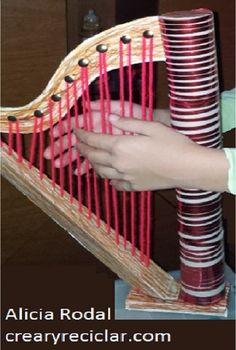 Music Instruments Diy, Instrument Craft, Homemade Instruments, Music For Kids, Diy For Kids, Crafts For Kids, Pop Can Crafts, Aluminum Can Crafts, Angel Crafts