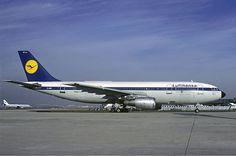 "Lufthansa Airbus A300B2-1C D-AIAE ""Neustadt an der Weinstrasse"" at Paris-Orly, November 1981. (Photo: Christian Volpati)"