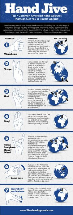 Hand Jive Gestures that can get you in trouble abroad  Lauren B Montana