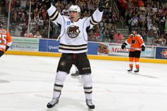 04.19.14 - Joel Rechlicz was all smiles after scoring for the Bears.  Photo courtesy of JustSports Photography.
