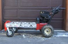 Hausgemachte Power Wagon - New Ideas Metal Projects, Welding Projects, Trailer Dolly, Power Trailer, Garden Tractor Attachments, Power Tools For Sale, Brick Path, Old Tractors, Lawn Tractors
