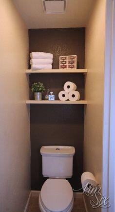Easy 5 Dollar Floating Shelves - bathroom decor - Shelves in Bedroom Floating Shelves Bedroom, White Floating Shelves, Floating Shelves Kitchen, Bathroom Shelves, Glass Shelves, Bathroom Vanities, Closet Shelves, Floating Headboard, Vanity Mirrors