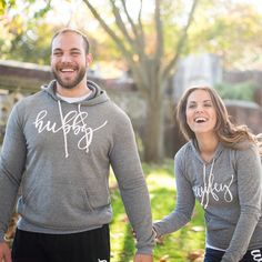 Hubby and Wifey hoodies - awesome wedding gift! So adorable to wear for your honeymoon :-)