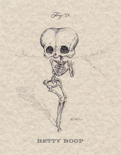 animado, cartoon, desenho, esqueleto, ossos