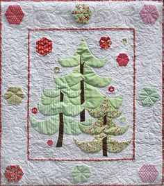 Christmas Tree Hunting Quilt Pattern designed by Marian Gallian | Pink Hippo Quilts