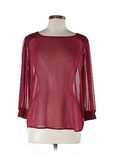 Maurices Women 3/4 Sleeve Blouse Size L