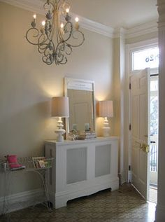 MY Old Country House: Tuesday Tour - The Entryway Front Hall Breakdown without all the Drama! Color Choices