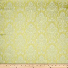 Riley Blake Postcards for Santa Sparkle Damask Gold from @fabricdotcom  Designed by My Mind's Eye for Riley Blake, this cotton print fabric is perfect for quilting, apparel and home decor accents. Colors include metallic gold and cream.