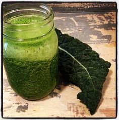 I take green smoothies to work 1. B/c I like them and they're healthy and 2. B/c the look on everyone's face is funny lol