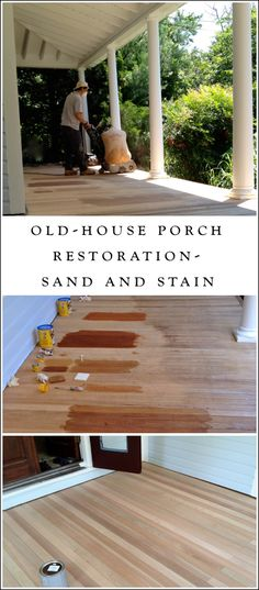 We are DIY-ing our old-house restoration room-by-room... our wraparound front porch is lovely, but choosing stain nearly drove me mad.