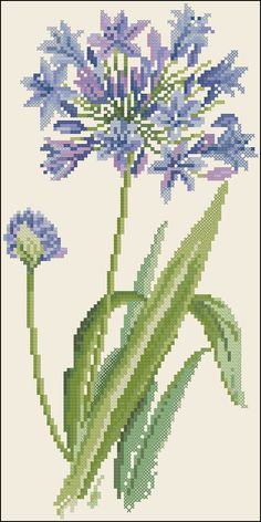 Blue Flowers, Wild Flowers, Arrow Keys, Close Image, Cactus Plants, Needlepoint, Machine Embroidery, Projects To Try, Cross Stitch