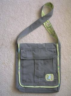 I recently saw this post about making a bag using an old pair of cargo pants. I decided it was time to try it out and went thrift store shopping to find a cheap pair to work from as we didn't…