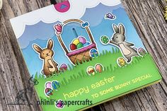 surprise pull tab easter card «happy easter to some bunny special Interactive Cards, Easter Card, Happy Easter, Cardmaking, Bunny, Paper Crafts, Holidays, Type, Making Cards