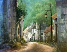 Dordogne, France. Watercolor, Painting, Art, Gouache Art, Gouache
