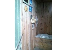 Even the outhouse has charm