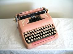 Pink Vintage SmithCorona Silent Super Typewriter  Great by meedily