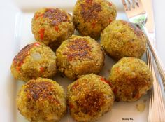 Quinoa (Meatless) Meatballs is a yummy vegetarian and gluten-free idea that's packed with flavor and nutrition.