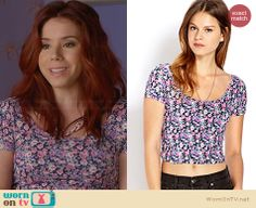 Tamara's floral crop top on Awkward.  Outfit Details: http://wornontv.net/32833/ #Awkward