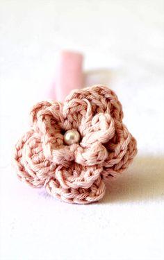 #pink #headband #floral #handmade #children #baby #toddler