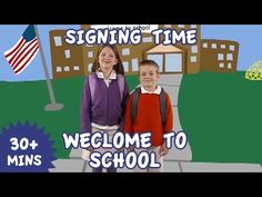 Sign Language for Kids - Vol. 13 Welcome to School Baby Sign Language Basics, Sign Language For Kids, Sign Language Phrases, Sign Language Interpreter, Learn Sign Language, American Sign Language, Language Arts, Sensory Language, Welcome To School