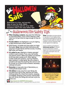 Fire Extinguisher Parts in New Jersey - Dolan's Fire Protection Supply - Wholesale Fire Protection Equipment Parts and Supplies - - Halloween Fire Safety Tips Halloween This Year, Holidays Halloween, Fire Protection Equipment, Fire Safety Tips, Halloween Safety Tips, Little Monsters, Burning Candle, How To Make, Fun