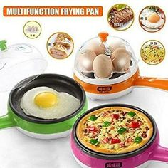 Makes tasty omelettes, fried eggs, fried fish, dumplings, pancakes and boils up to five eggs at a time easily. Round design of the non-stick coated pan. Cool Kitchen Gadgets, Cool Kitchens, Mini Egg Omelettes, Best Omelette, Electric Frying Pan, Mini Eggs, Fried Fish, Fried Steak, Fried Eggs
