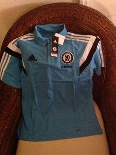 Adidas England chelsea FC Soccer/futbol polo shirt new with tags Size L Men's in Sports Mem, Cards & Fan Shop, Fan Apparel & Souvenirs, Soccer-International Clubs   eBay