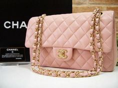 chanel pink quilted bag