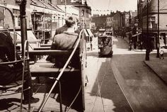 1937 Bristol Tram Car 7 on East Street, Bedminster Essex Street, Old Street, City Of Bristol, Bristol Uk, Bristol England, Cycle Shop, Hill Station, Old Pictures, Old World