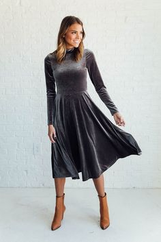 DETAILS: Velvet dress for the perfect night out Fabric Content: 90% Polyester 10% Spandex Machine Wash Cold Made in USA...