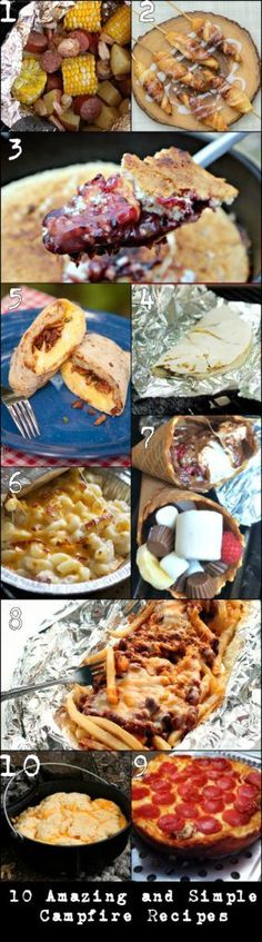 The 10 best campfire recipes out there!  Definitely need to make some of these the next time we go camping!